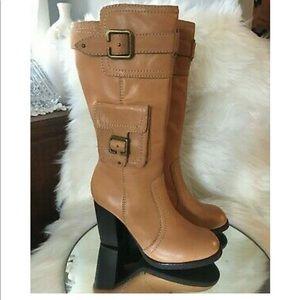 Chunky heel boot